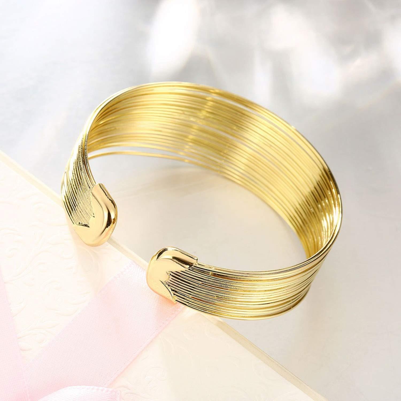 salmoph cadia Original K Gold S 18 Open Big Women Gold Color Wedding Bangle Jewelry Women Love