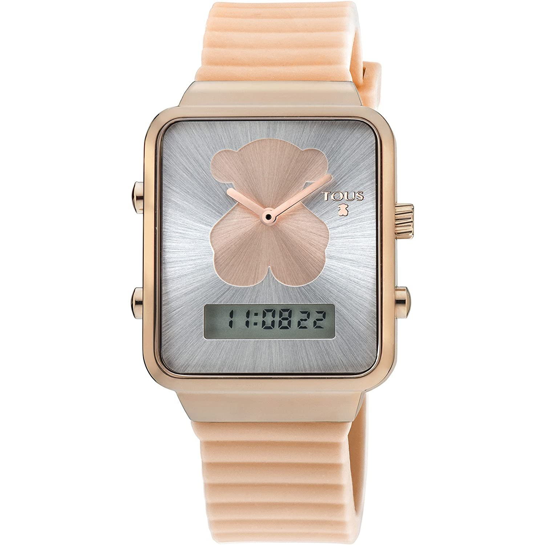Uhr Digital i-bear Edelstahl IP rosÉ Tous 700350140