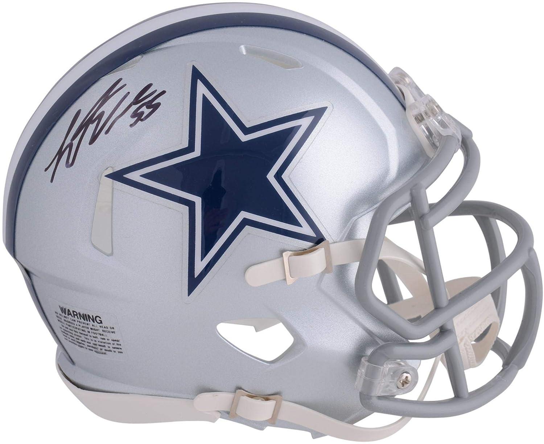 Leighton Vander Esch Dallas Cowboys Autographed Riddell Speed Mini Helmet Fanatics Authentic Certified