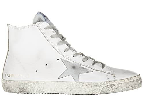 Golden Goose Scarpe Sneakers Alte Uomo in Pelle Nuove Francy Bianco   Amazon.it  Scarpe e borse 375974892b4