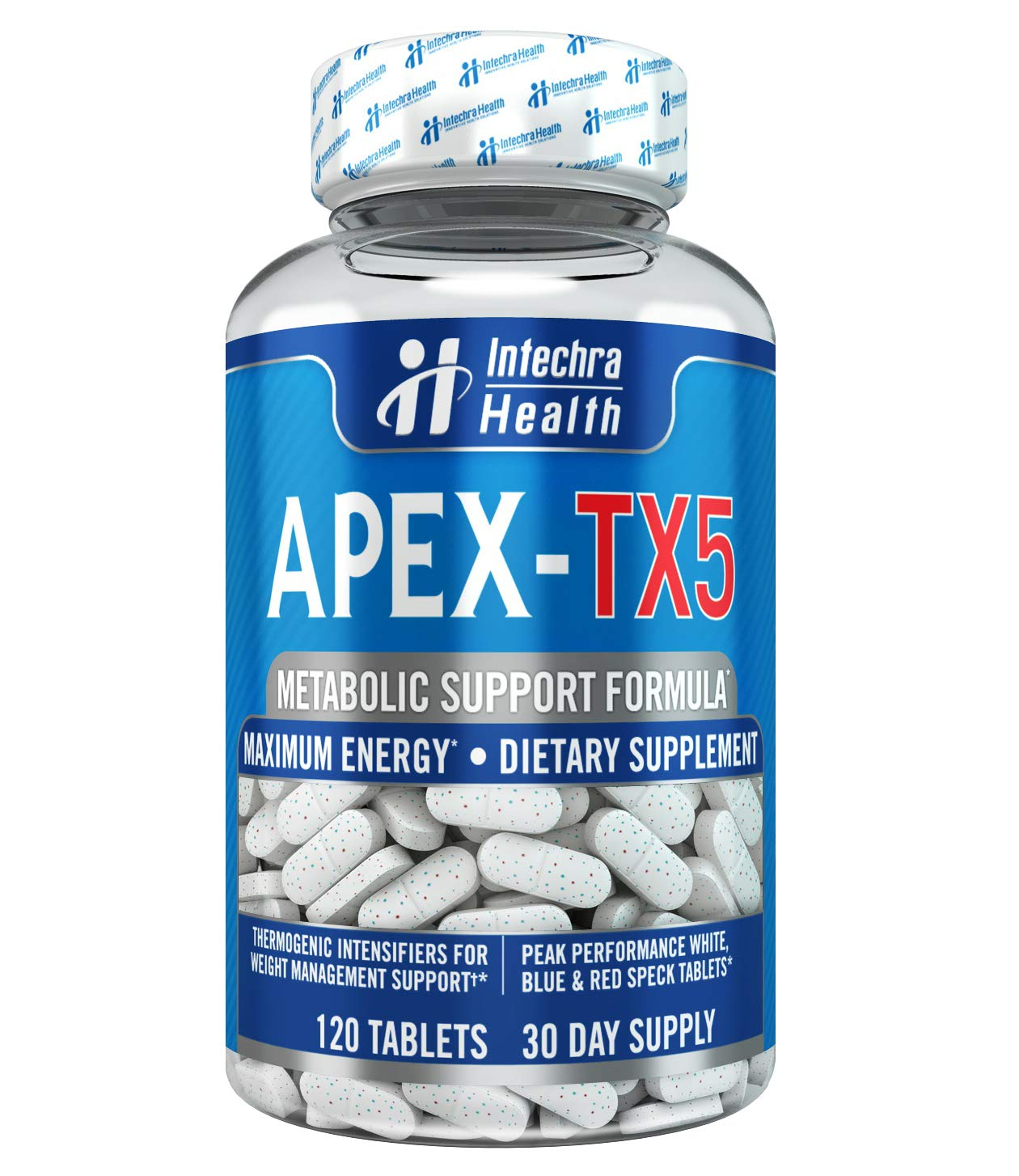 APEX-TX5 Weight Management Dietary Supplement 120 White Blue Red Speck Tablets Made in the USA Highest Professional Quality by APEX-TX5