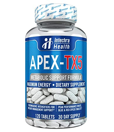 Pleasing Apex Tx5 Weight Management Dietary Supplement 120 White Blue Red Speck Tablets Made In The Download Free Architecture Designs Grimeyleaguecom
