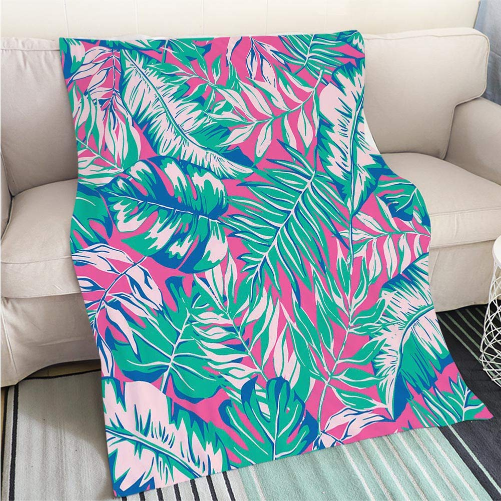 color6 59 x 80in BEICICI Comforter Multicolor Bed or Couch Vector Seaside top View Illustrations Fun Design All-Season Blanket Bed or Couch