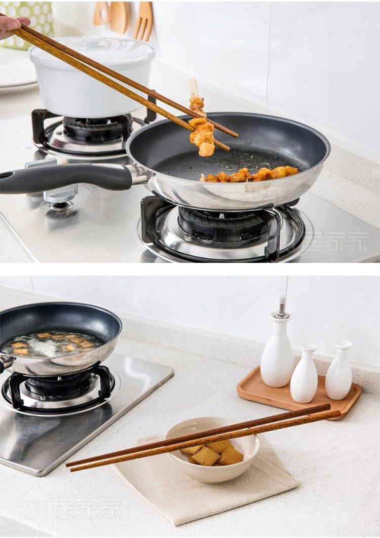 Extra Long Acier Inoxydable 38 cm Cuisine baguettes pour Hot Pot Poêle nouilles