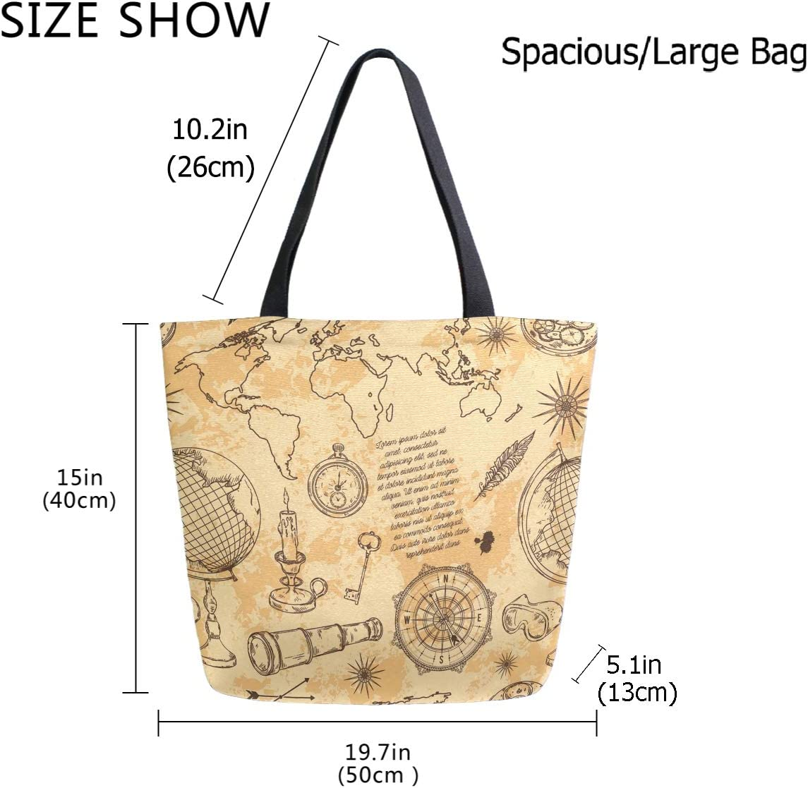ZzWwR Halloween Flying Bats Large Canvas Shoulder Tote Top Handle Bag for Gym Beach Travel Shopping
