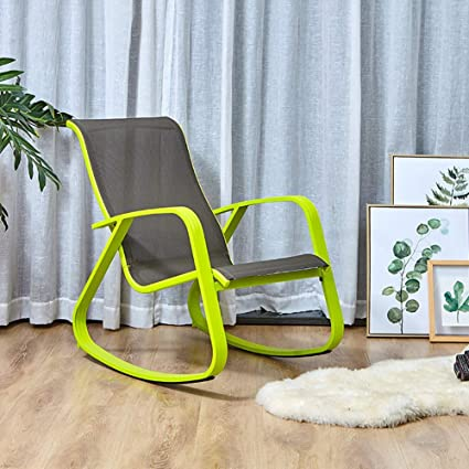 Surprising Grand Patio Modern Swing Rocking Rock Chair Glider With Lemon Green Aluminum Frame Indoor Bedroom Outside Style Ibusinesslaw Wood Chair Design Ideas Ibusinesslaworg