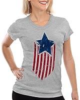 style3 USA American Star T-Shirt Women