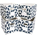 MAX Houser Fabric Storage Bins Cubes Baskets Containers with Dual Plastic Handles for Home Closet Bedroom Drawers…