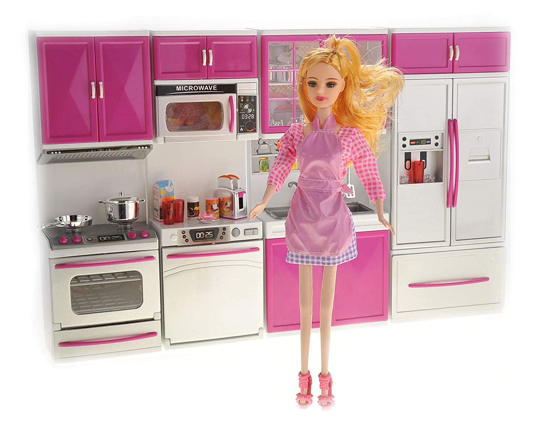 PowerTRC Myモダンキッチンフルデラックスキット – 電池式おもちゃの人形キッチンおもちゃ人形 – ライト、サウンド   B06XKJ2C9C