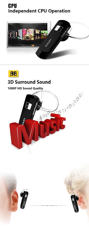 Auricular Genai con Bluetooth V4, inalámbrico. manos libres, estéreo con micrófono HD 3D: Amazon.es: Electrónica
