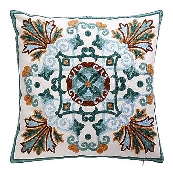 Amazon.com: Oneslong - Fundas de cojín decorativas bordadas ...