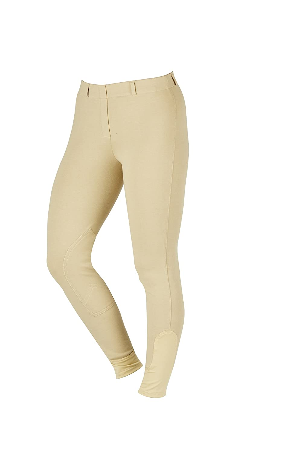 Beige 34 Beige 34 Saxon Knee Patch Pull-On Breeches for Women