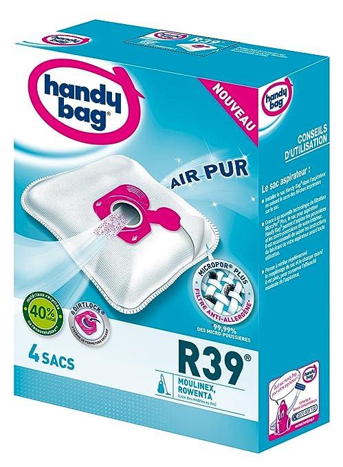 Bolsas Handy Bag para aspiradoras Rowenta con cierre hermético y filtro antialérgenos 4 Sacs