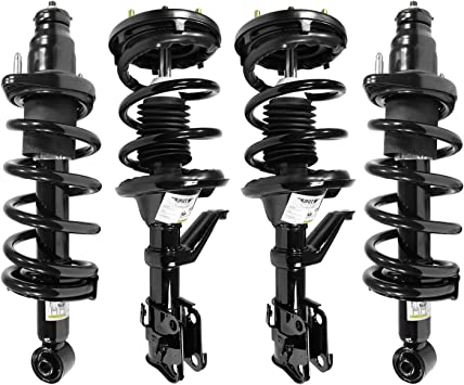 Unity 4-11667-15145-001 Front and Rear 4 Wheel Complete Strut Assembly Kit