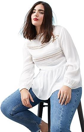 VIOLETA BY MANGO - Camisas - para mujer blanco blanco 42: Amazon.es: Ropa y accesorios