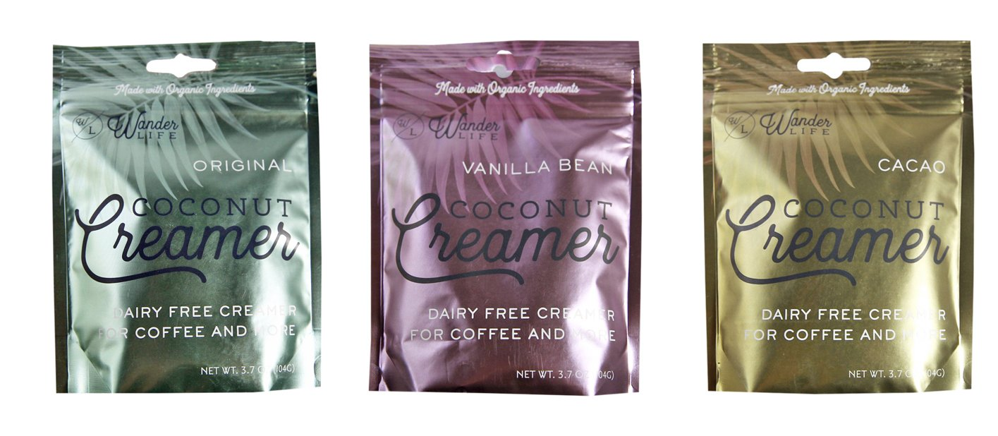 Wander Life Coconut Creamer 3-Pack : Original, Cacao, Vanilla Bean by Wander Life Coconut Creamer