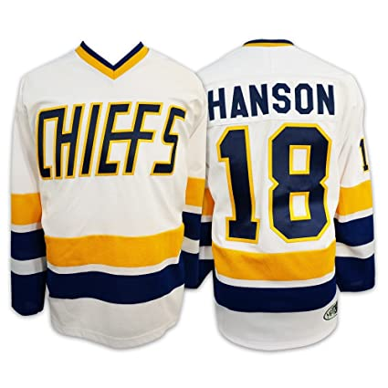 Image Unavailable. Image not available for. Color  Mad Brothers 18 HANSON Charlestown  CHIEFS SlapShot Movie Officially Licensed Hockey Jersey ... 62bf64369