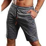 Srizgo Gym Shorts Running Shorts with 3 Invisible Zipped Pocket Breathable Ultra-Lightweight Bodybuilding Workout Training Shorts