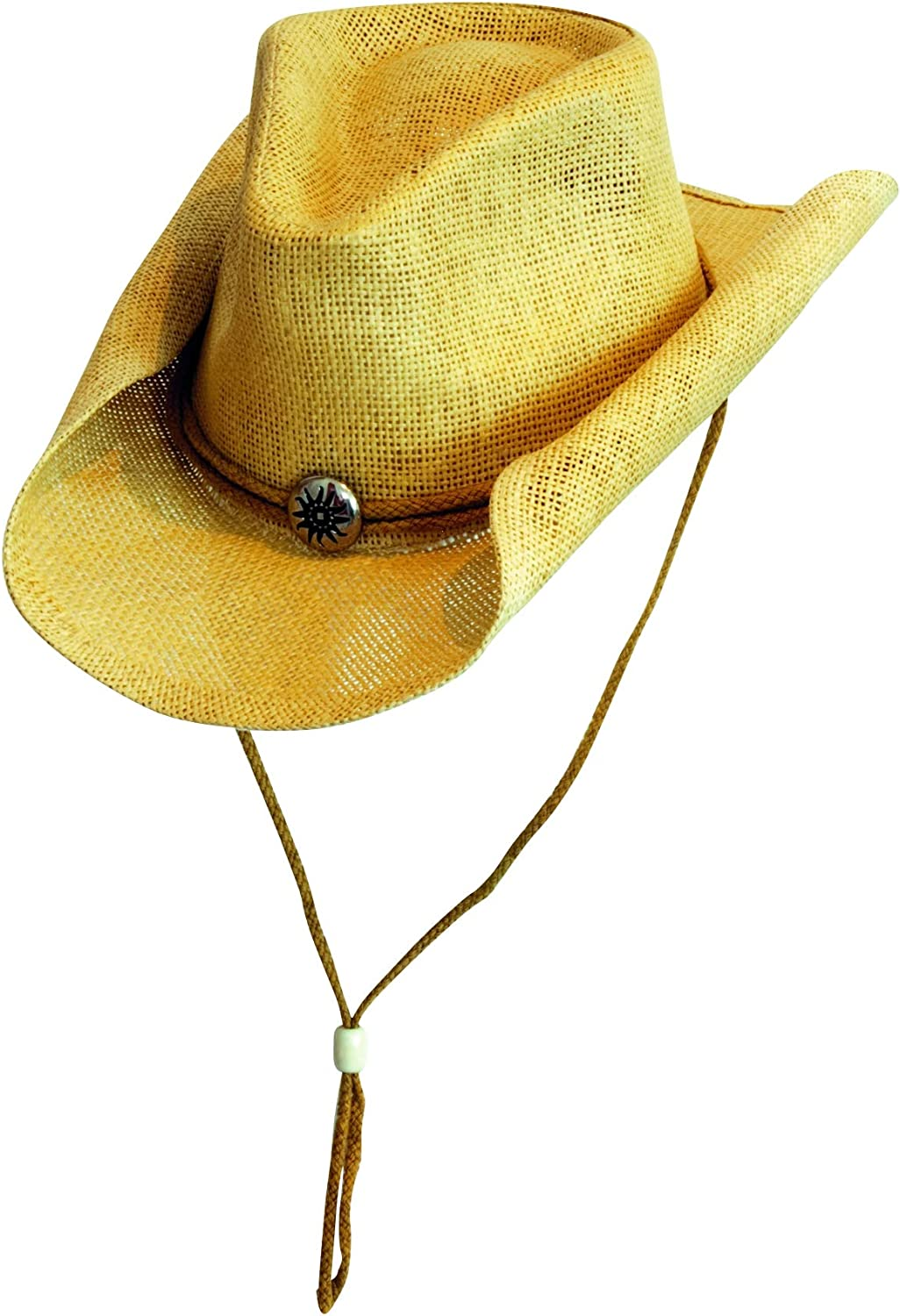 Extra Large Scippis Sunny Western Cowboy Straw Hat Black Large
