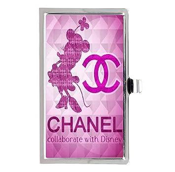 Chanel moda en vivo negocio titular de la tarjeta de acero inoxidable caso: Amazon.es: Oficina y papelería