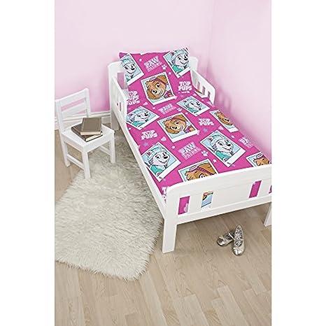 Paw Patrol estrellas Junior/para cama infantil + cama infantil colchón funda impermeable