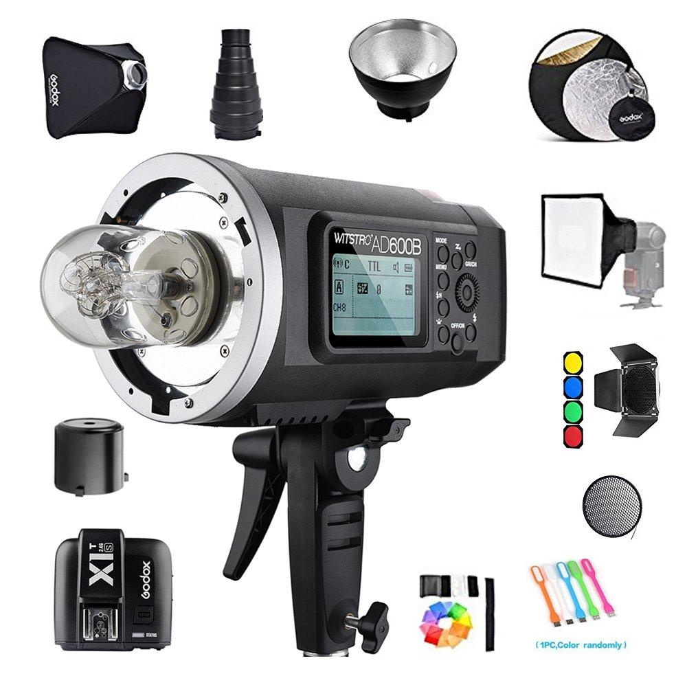 Godox AD600B TTL 600Ws GN87 HSS Outdoor studio Flash Strobe Monolight Speedlite Light+X1T-C Trigger Transmitterfor Canon cameras /32''X32''Softbox/ Standard Reflector&Grid/Barn Door/Snoot(Bowens Mount)