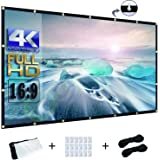 OWILLZ 120 inch Projector Screen 16:9 HD Foldable for Home Theater Cinema Indoor Outdoor