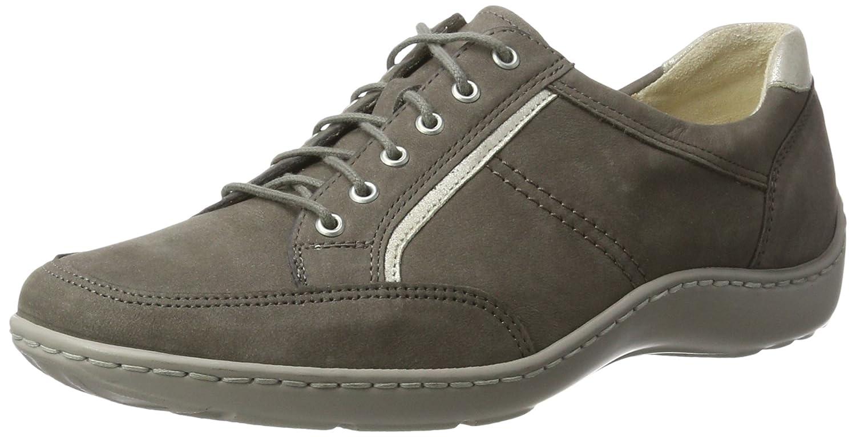 Waldläufer Henni, Zapatos de Cordones Derby para Mujer 37 EU|Mehrfarbig (Pietra Silber)