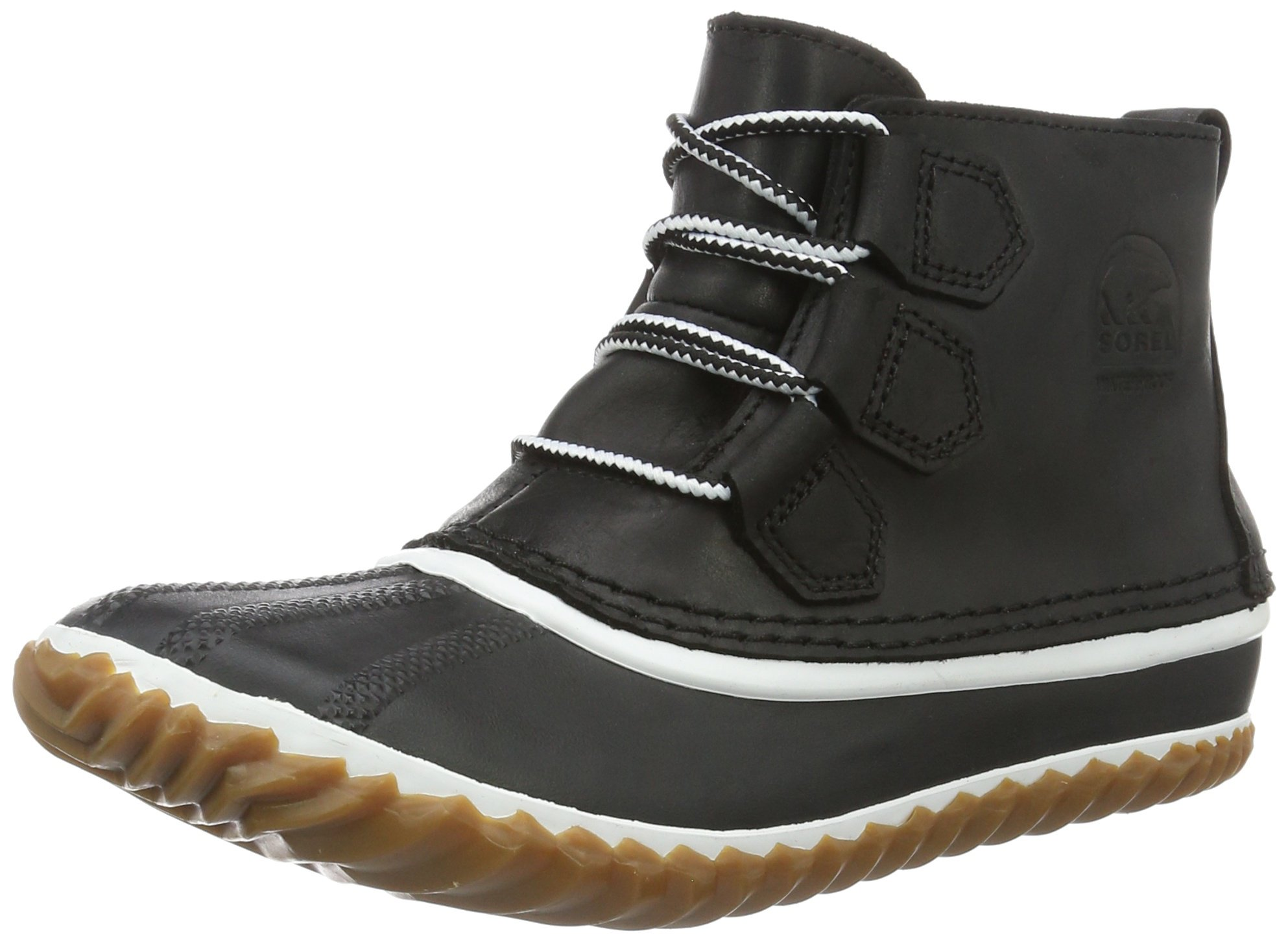 Sorel Women's Out N About Leather Snow Boot, Black,9 M US