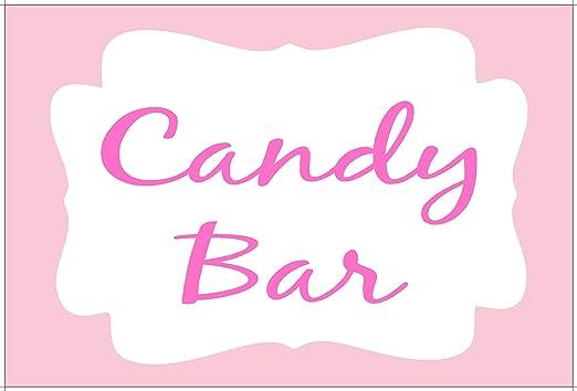 KE-Partyzubehör Cartel Candy-Bar Bautizo Bodas - 20 ...