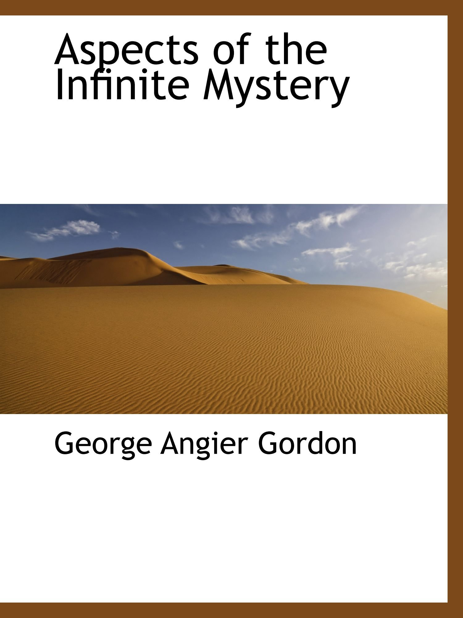 Download Aspects of the Infinite Mystery pdf epub