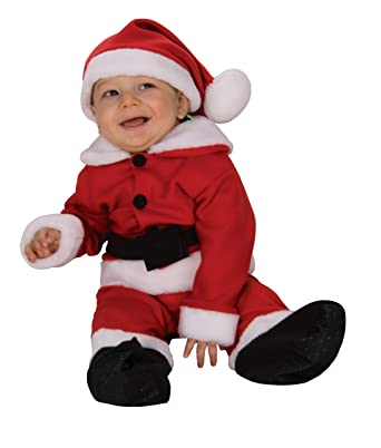 ef650d1572ad Amazon.com  Rubie s Costume Fleece Baby Santa Romper Costume and Hat ...