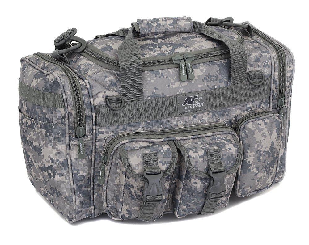 メンズ 18インチ ダッフル モール タクティカル ギア 肩掛け 旅行バッグ キーリングカラビナ付き B01E46WXPA 18