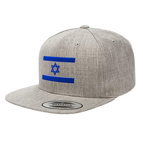 a7369720469 Chicago Flag Hats Flag of Israel Premium Classic Snapback Hat Star of David  6089M - Grey