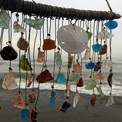 Sea Glass, Cooper and Seashell Wind Chimes available on AMAZON