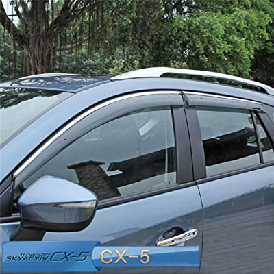 Vesul Updated Side Window Visor Rain Sun Deflectors Guard Vent Shade Smoke Gray Compatible with Mazda CX-5 CX5 2020 2020 2020 2020: Automotive