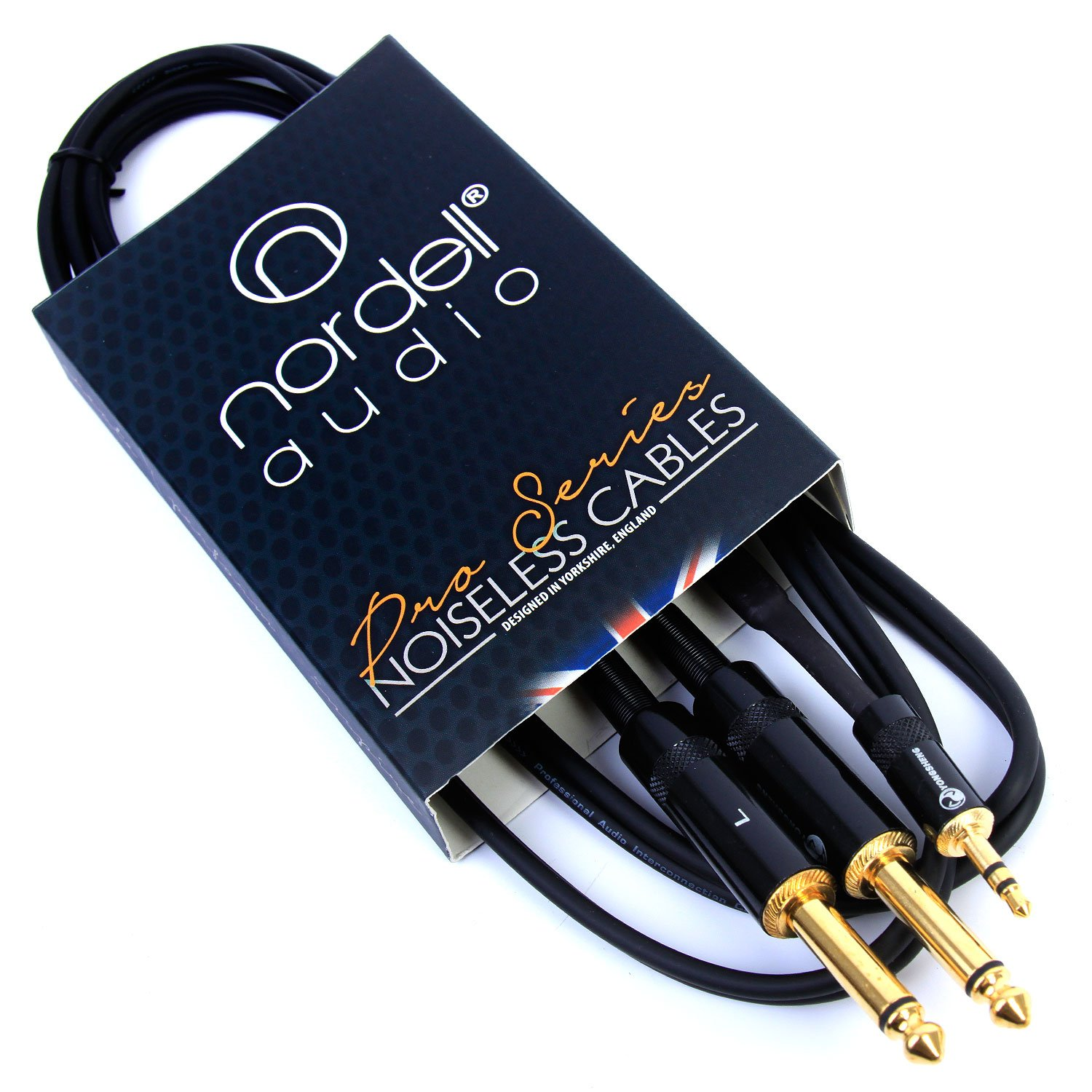 2 x 1/4' inch Jack to 3.5mm Stereo Mini Jack Lead Cable 1.5m 5ft Nordell