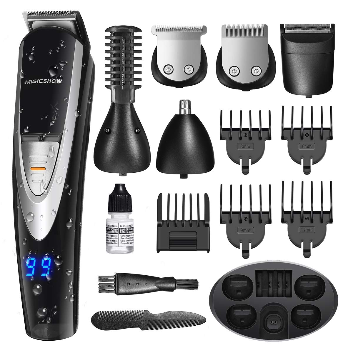 MIGICSHOW Electric Beard Trimmer for men
