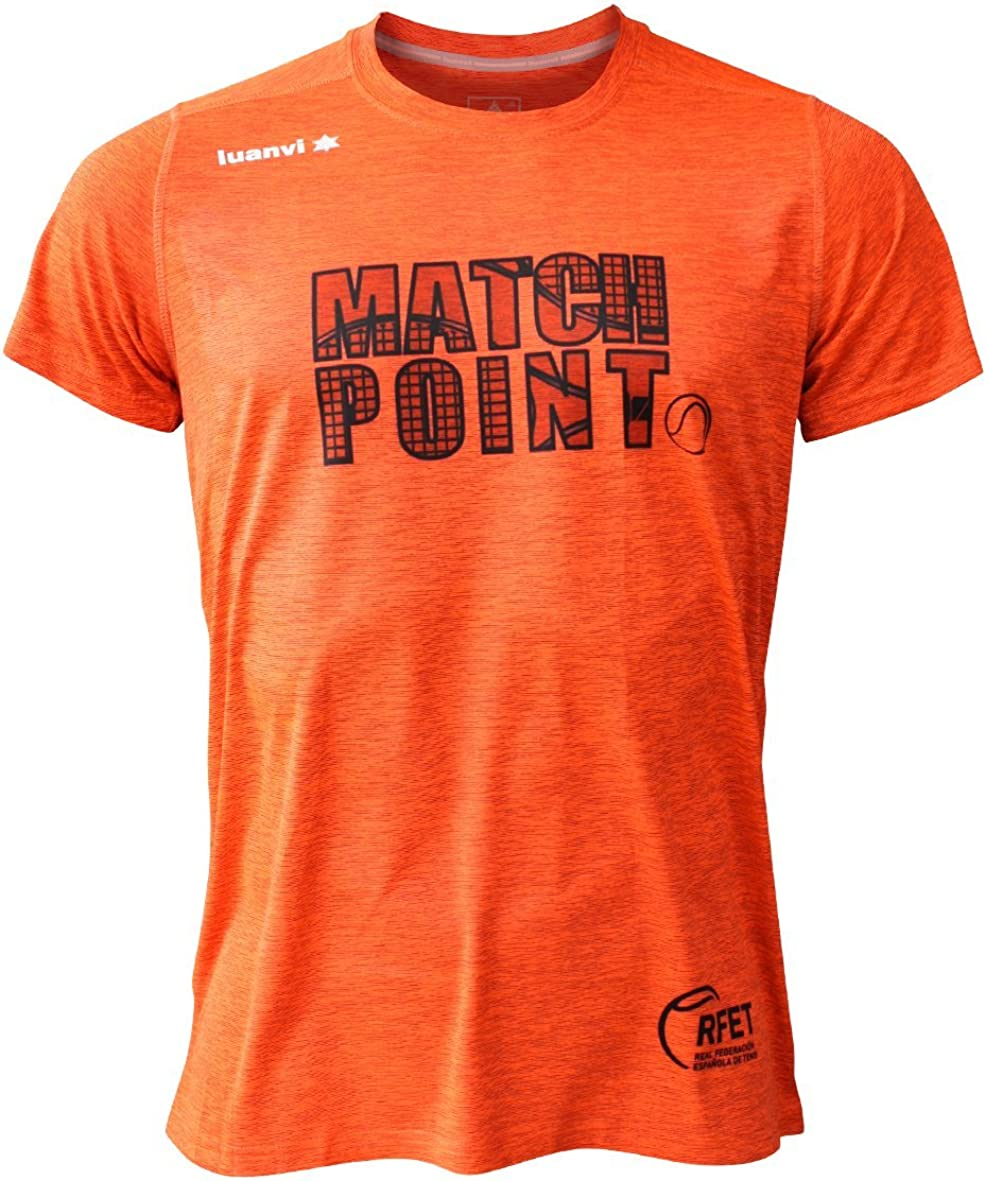 Luanvi Edición Limitada Camiseta técnica Match Point, Hombre, Naranja, L (52-70cm): Amazon.es: Ropa y accesorios