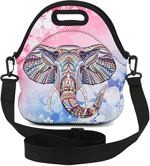 Flamingo Diseño Caja de Almuerzo Bolso De Escuela Oficina de viaje fresco Térmica Bolsa de almacenamiento de alimentos