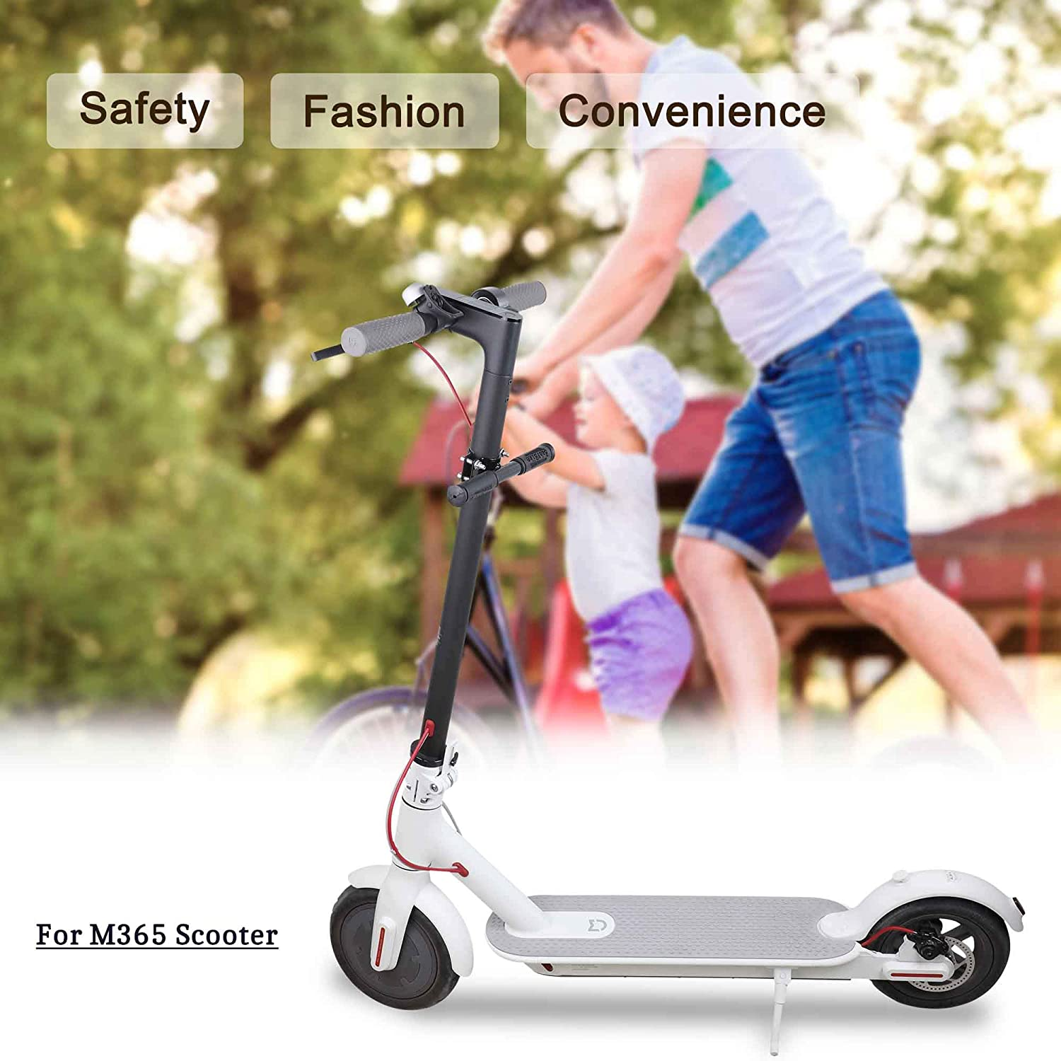 TOMALL Scooter Childrens Handlebar Adjustable Grip Bar Safe Holder Kids Handrail for Xiaomi M365 Scooter