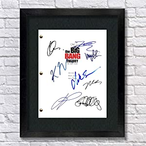 The Big Bang Theory TV Cast Autographed Signed Reprint 8.5x11 Script UNFRAMED - Jim Parsons, Johnny Galecki, Kunal Nayyer, Simon Helberg, Kaley Cuoco, Melissa Rauch, Mayim Bialik