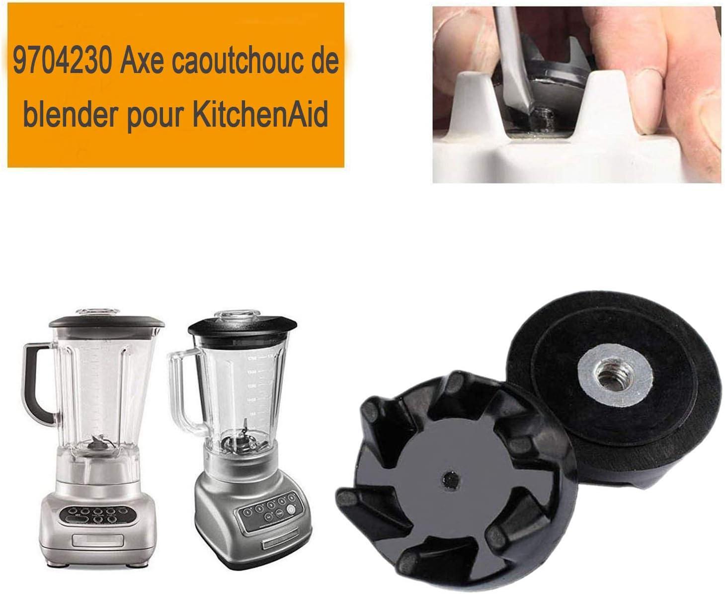 2 Pcs Blender Caoutchouc Raccord /Équipement avec Outil de Suppression pour Kitchenaid 9704230 Ztoma Blender Caoutchouc Raccord /Équipement