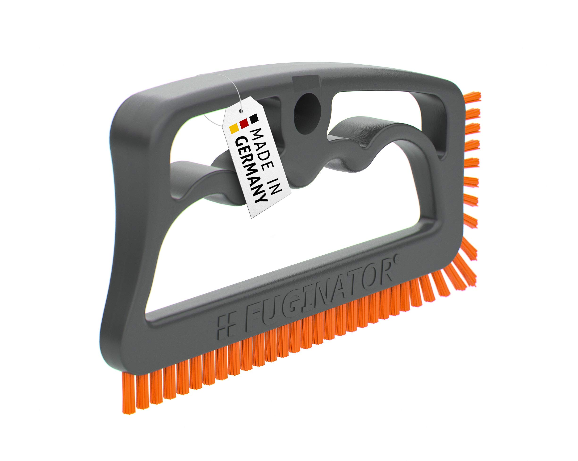 Fuginator Scrubbing Brush for Tile and Grout: Stiff Nylon Bristle Scrub Made Out of 100% Recycled Materials for Floor Joints and Tile Seams - Cleaning Scrubber and Supplies for Bathroom and Kitchen