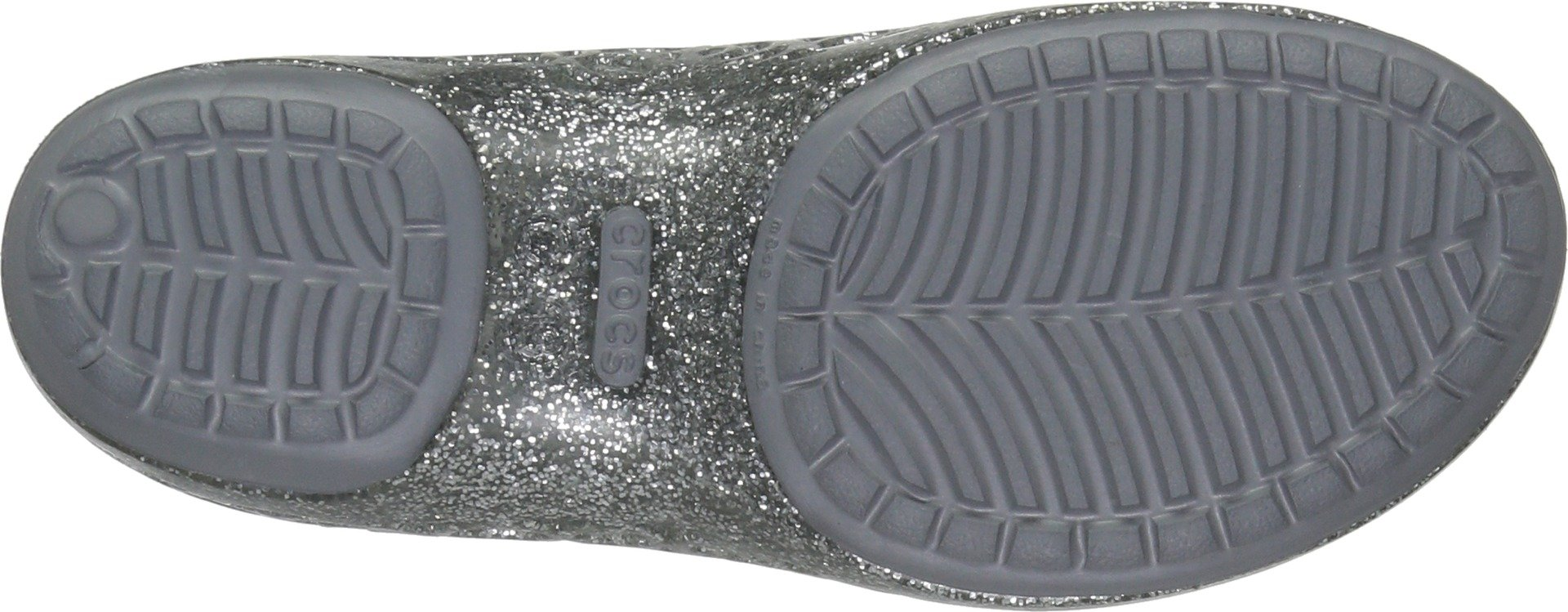 c36ff683f5678 Crocs Girls' Isabella Glitter PS Ballet Flat, Silver, 10 M US Little Kid -  202602-40-10 M US Little Kid < Flats < Clothing, Shoes & Jewelry - tibs