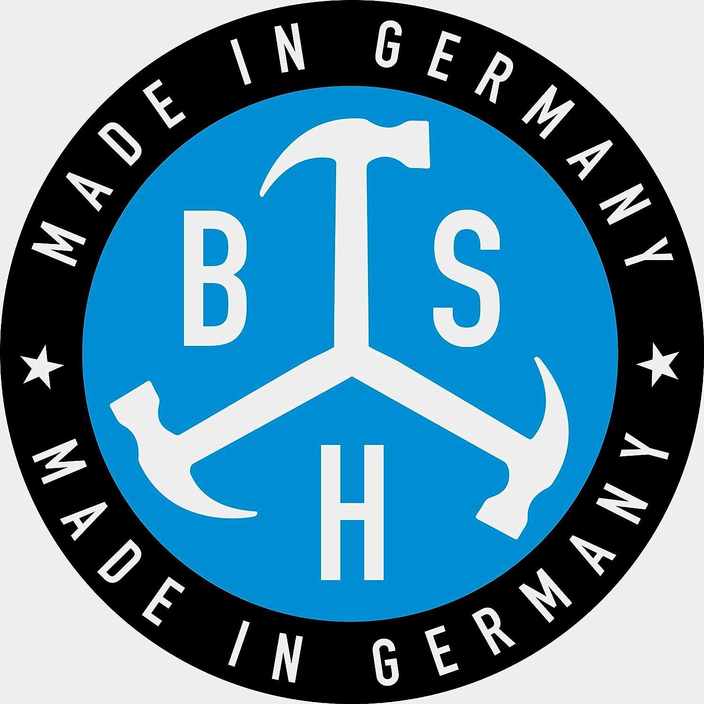 rostfreier Edelstahl BSH/® Gl/ättekelle 1, 280 x 130 mm 280 x 130 mm Made in Germany Natur-Buchenholzgriff mit Speziallackierung