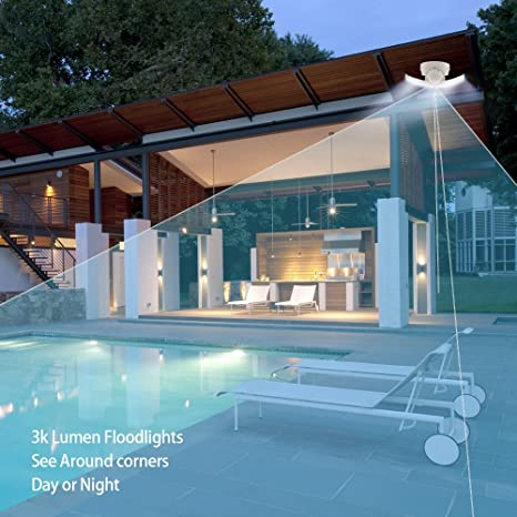 Netvue LED Cámara de Reflector Inteligente, Cam WiFi de Seguridad ...