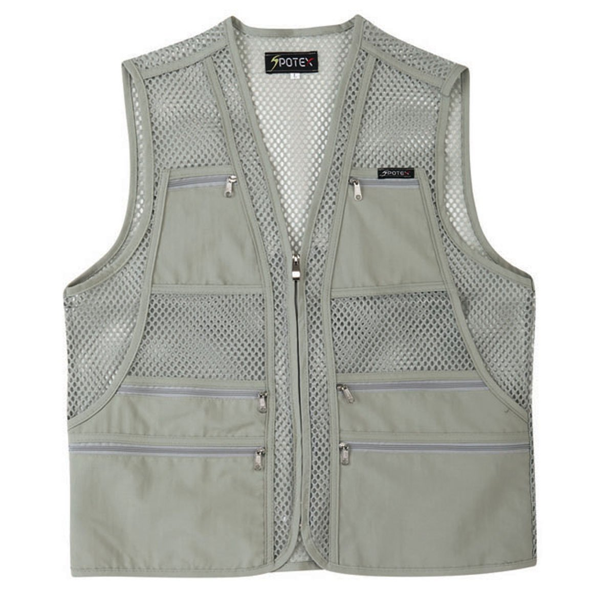 bc4e26d500492 Amazon.com : myglory77mall Men's Multi Pockets Fly Fishing Hunting Mesh Vest  Outdoor Jacket : Sports & Outdoors