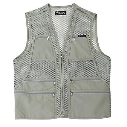 5f11b1d7f994d myglory77mall Men's Multi Pockets Fly Fishing Hunting Mesh Vest Outdoor  Jacket L US(2XL tag