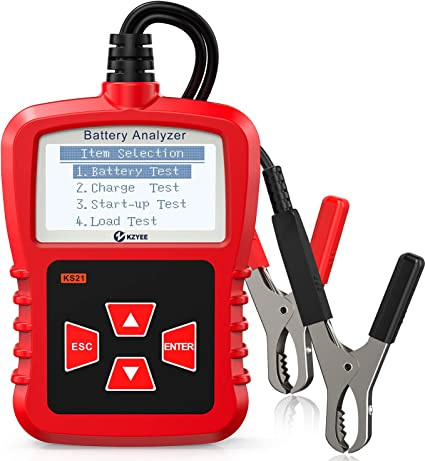 KZYEE Probador de la Batería del Coche, 12V 100-1700 CCA Probador de Carga de Batería de Coche para Vehicle Battery Health, Sistema de Arranque y Carga